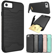 For Iphone7 Luxury Hybrid Armor Kickstand Card Slot Hard Fundas Case For Apple Iphone 6 6plus 6s Plus 7 7plus 7 Plus Cover Capa