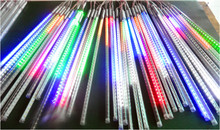 80cm long 5050 SMD 72leds/tube;RGB color Snow Fall Meteor led tube;12mm diameter;10pcs/set;AC90-260V input(China)
