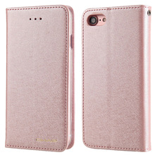 CMAI2 Silk Pattern Luxury Magnetic Flip Wallet Case for iPhone 6 6s Plus Phone Protective Cover Coque Capinha Rose Gold