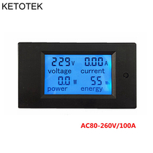 AC Multifunction Voltmeter Meter Energy Power Monitor AC 80-260/100A Volt Amp power tester Voltmeter Ammeter Current Transformer(China)