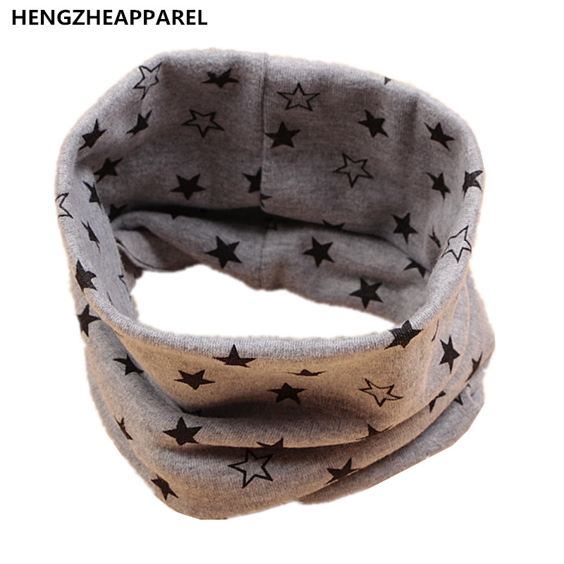 2017cotton new star mouse cotton thin warm baby scarf solid color kids O ring collars fashion high quality children accessories