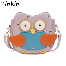 Tinkin New Arrival Cute Penguin Bag Small Fashion Cartoon Shoulder Bag Candy Color Girls Messenger Bag Lovely Cherry Bag