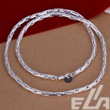 Hot marketing  silver plated necklace popular snake chain  jewelry sports style for women and men