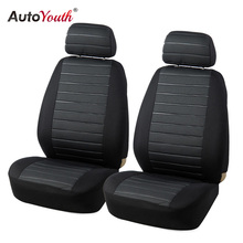 AUTOYOUTH Front Car Seat Covers Airbag Compatible Universal Fit Most Car SUV Car Accessories Car Seat Cover for Toyota 3 color(China)