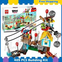 405pcs The Birds Pig City Teardown 10508 Building Blocks Bricks Model Toys Games Movie Children Toys Sets Compatible With Lego(China)