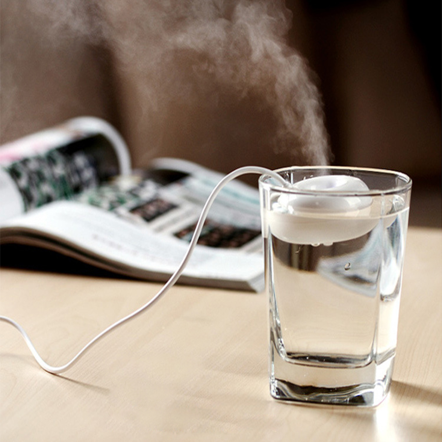 Mini Portable Air Humidifier USB Float Water Donuts Humidifier Home Desktop Humidifier Mist Maker Mini Moisture Fogger Office (China)
