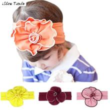 Head Bands Girl Accessories Ribbon Flower Headband Una Flor De Tela Para Pelo #2046