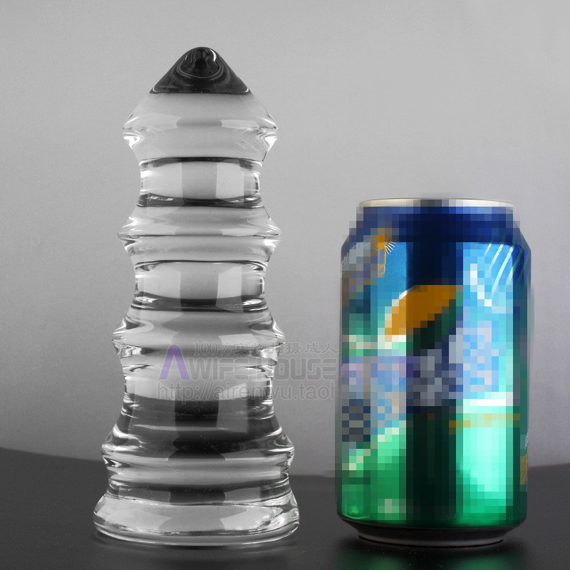 170*70mm large anal beads glass anal plug Transparent crystal pagoda style glass butt plug sex toys for men gay <br>