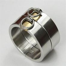 Buy Top stainless steel oval shaped heavy legcuffs locking bdsm bondage fetish slave toy metal leg cuffs wrist restraints sex toys