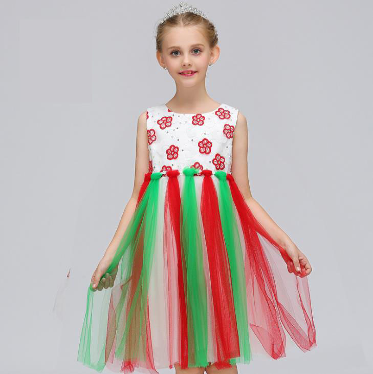 Princess Pretty Baby Color Flower Girls Dresses For Weddings Tutu Flowers On Waist Sleeveless Ball Gown 2018<br>