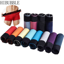 HIBUBBLE Brand 10pcs/lot Boxer Shorts Men Comfortable Underwear Men Soft male Underwear Boxer Homme Underpants  Men Underwear