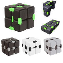 Buy 3 color Infinity Cube High Fidget Cube Anti Stress Spiner Magic Finger spinners Hand Door Toy Magic Adult ADHD for $6.53 in AliExpress store