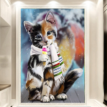 Buy DIY 5D Diamond Painting Animals cats Cross Stitch Mosaic diamond embroidery Needlework Patterns Rhinestone paintings for $3.99 in AliExpress store