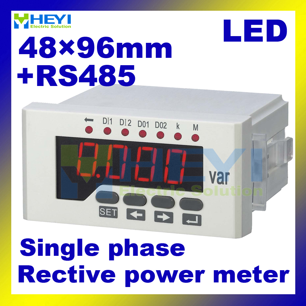 Reactive power meter 80*160mm , 60*120mm , 48*96 mm single phase Class 0.5 digital power meter with RS485<br>