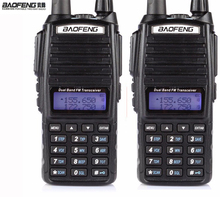 HOT Cheap 2016 2pcs Two 2 Way Radio Dual Band UHF VHF Radio Station Walkie Talkie Baofeng UV 82 With FM Double PTT Baofeng UV-82(China)