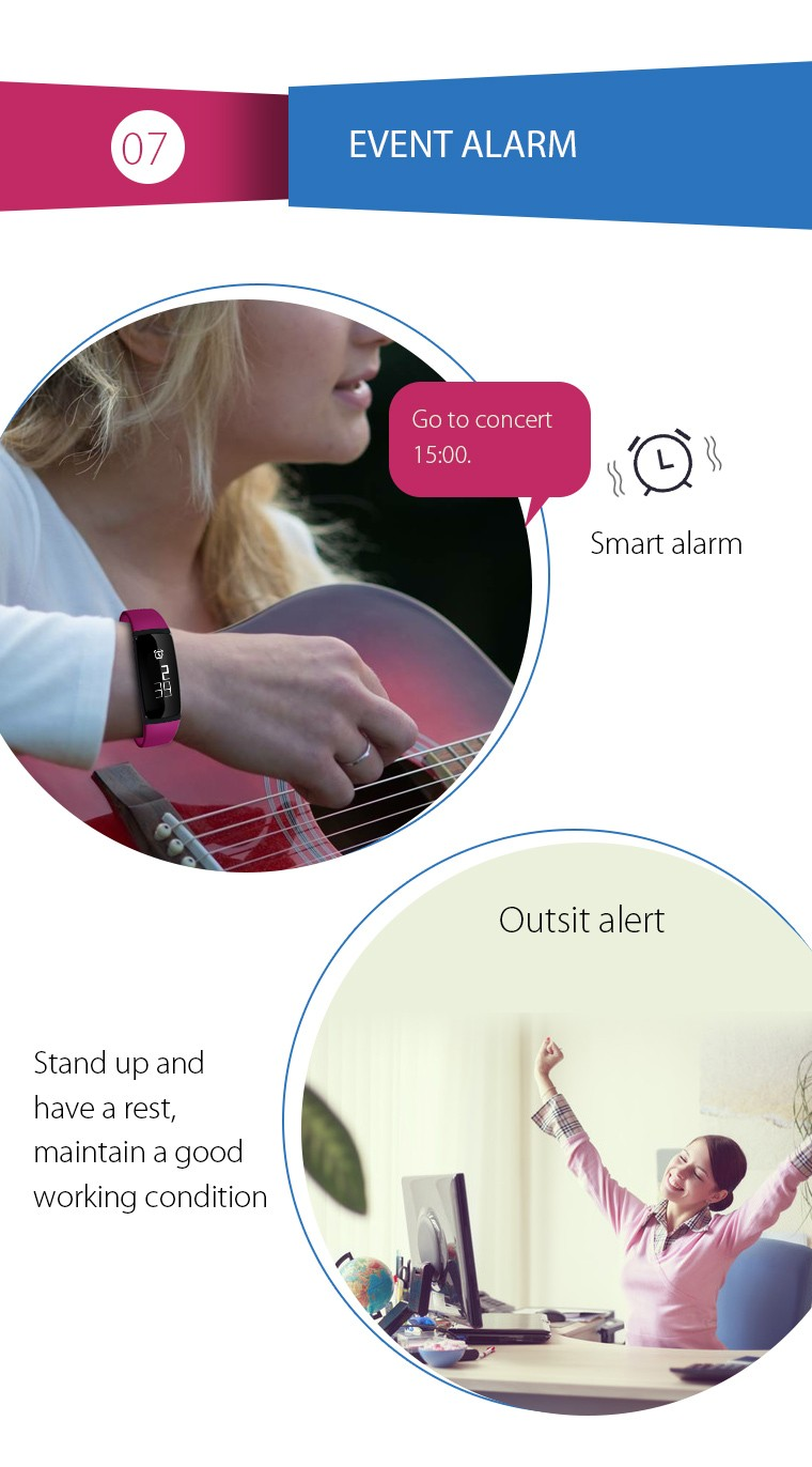 V07 Smart Wristband Band Heart Rate Monitor Blood Pressure Bracelets pedomet Bracelet Fitness Tracker SmartBand For iOS Android 12