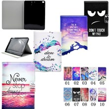 For Apple iPad Mini 4 Cases Luxury PU Leather Stand Flip Tablet Covers Back Silicon  Book Style Popular Words Butterfly Painted