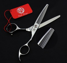 FAST Shipping! professional brand 6 inch 440C Antlers tooth high-grade hair thinning scissors hairdressing barber salon shears(China)