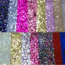 Colorful  Chunky Glitter Leather Glitter Fabric For DIY Sewing Synthetic leather P284