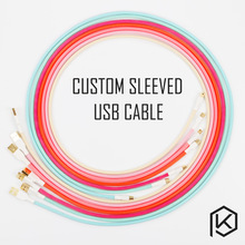 Colored sleeved Nylon USB Cable mini USB port Gold-plated connectors 1.2m length 6 colors blue pink purple orange beige cyan(China)