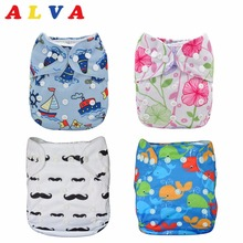 U Pick Alva Baby 2017 One Size Fits All Reusable Baby Cloth Diaper with 1pc Microfiber Insert for Unisex(China)