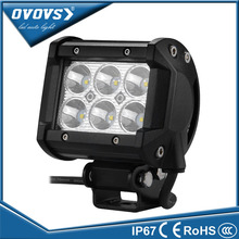OVOVS 4 inch factory price truck light auto part 12v 18w 4x4 led light bar for offroad 4x4 ATV SUV truck