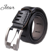 2017 New Arrival Fashion Belts For Men Luxury Pin Buckle Brand Belts Genuine Leather Cowhide Men's Belt Strap Vintage Waistband
