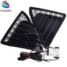 for 2012 2013 2014 Ford focus 3 LED daytime running light dimmer function tuning light fog cover external lights free shipping(China)