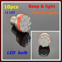 1 LOT 10pcs LED bulb with beep alarm siren warning Beep light S25 LED Reverse Lights Bulbs 1156 Backup light DF-2303 FFF(China)