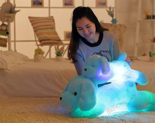 Creative toy Cute Inductive dog nightlight plush toy LED glow pillow doll 50cm