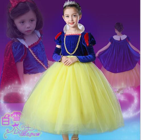 Girls Halloween Princess Dresses 2017 Autumn Sleeveless Gauze Birthday Kids Ball Gown CHildrens Formal Dresses Dancewear 3-8Y<br>