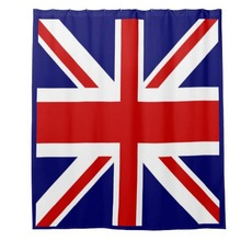 England Great Britain UK Flag shower Curtains Hooks Bathroom Curtain Waterproof fabric Polyester Bathing home decal bath decor