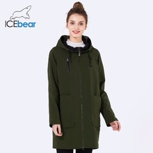 ICEbear 2018 new woman trench coat fashion with rotator sleeves design women coats spring brand casual plus size coat GWF18006D(China)