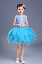 Juniors Green Red Pink Yellow Sky Blue Little Big Girls Sleeveless Summer  Dresses for Children Party Tulle Easter Dress ce21b31174af