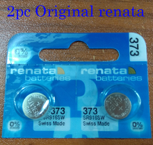 2pc renata Silver Oxide Watch Battery 373 SR916SW 916 1.55V  100% original brand renata 373 renata916 battery