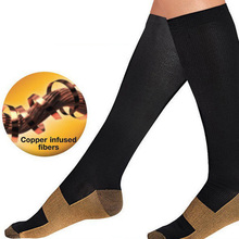 1 Pair Unisex Anti-Fatigue Compression Men Socks Foot Pain Relief Miracle Copper Anti Fatigue Socks Support Knee High Stockings