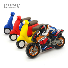 Easy Learning Cartoon Motorcycle USB Flash Drive Pen Drive USB 2.0 Memory Stick Pendrives 4GB 8GB 16GB 32GB 64GB Moto Car U disk(China)