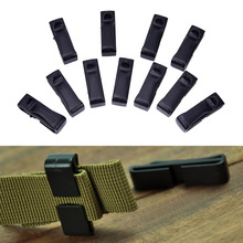 10Pcs 20/25MM molle buckle strap Belt end clip adjust keeper tactical backpack camping(China)