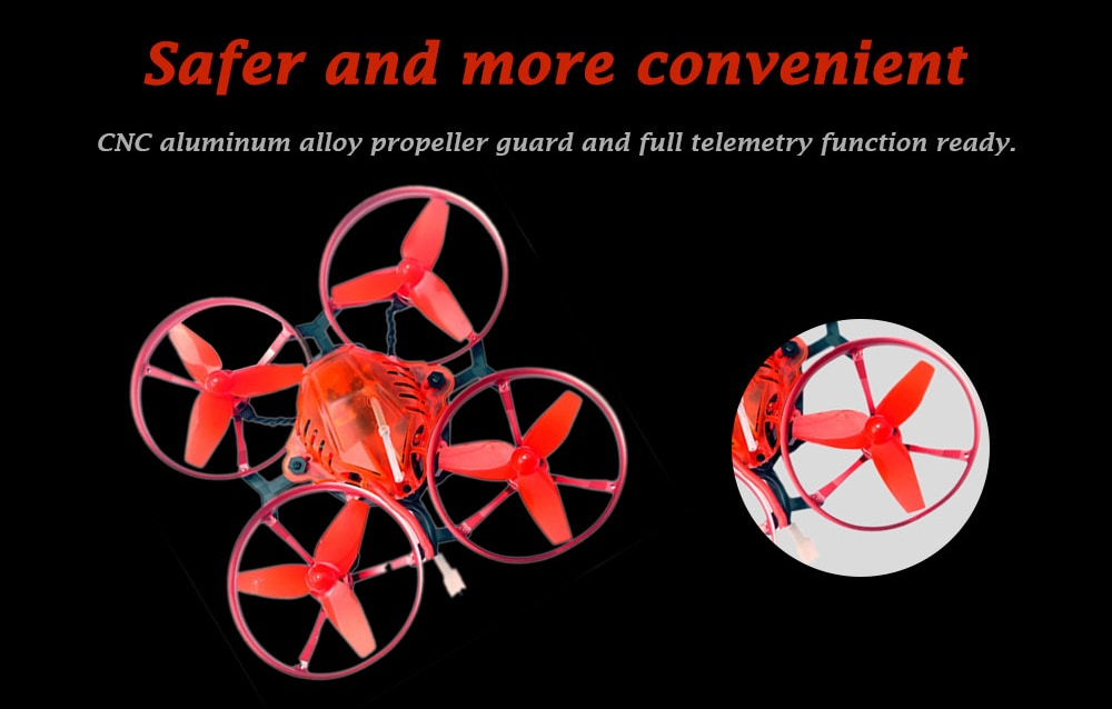 Happymodel Snapper7 75mm Crazybee F3 OSD 5A ESC 1S Brushless Whoop FPV Racing Drone BNF- Red with FlySky Receiver