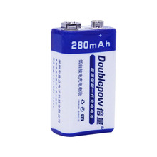 Doublepow 9V 280mAh Rechargeable Battery 6F22 Nickel Metal Hydride Battery Low Self-discharge Eco-friendly Battery with Case(China)