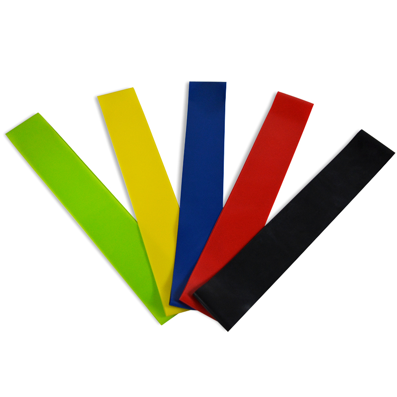 5 Level Yoga Resistance Rubber Bands 0.35mm-1.1mm Strength Pilates Sport Training Workout Elastic Bands 600mm Fitness Equipment (2)