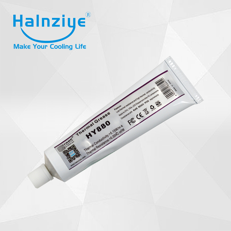 HY880 Aluminum tube 100g nano silicone thermal paste/thermal grease/thermal compound for laptop Copper&amp;aluminum heat sink chips<br>