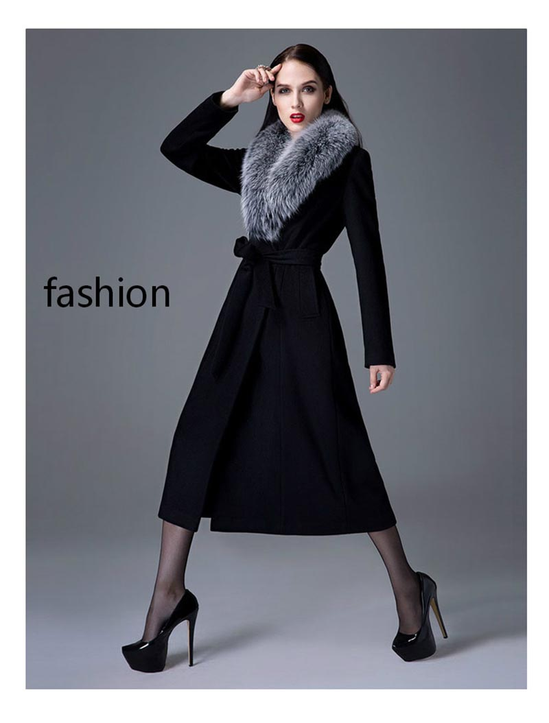 fox fur collar fashion