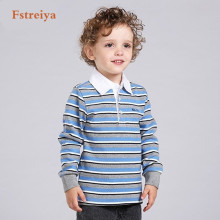 2017 Boy's Clothes Cotton T-shirt long Sleeve Children's Tee Shirts full Baby Tops summer new style popular KidsTop polo shirts(China)