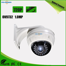 Hybrid Camera with AHD/CVI/TVI/CVBS output support 4 IN 1 mode 720P Resolution CCTV Dome Camera AS-MHD2307R1