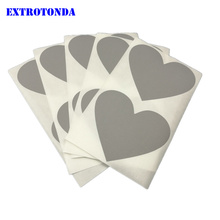50Pcs Scratch Off Sticker 60x70mm Love Heart Shape Silver Color Blank For Secret Code Cover Home Game Wedding Message(China)