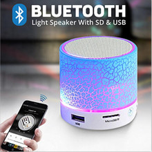 Bluetooth Speakers Wireless Portable Mini LED Small Music Audio TF USB FM Light Stereo Sound Speaker For Phone Xiaomi with Mic