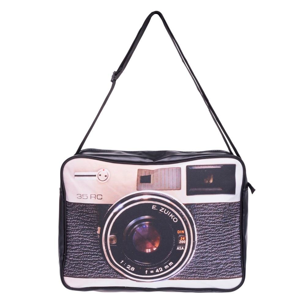 Camera 3D Printing handbag Pu Leather women leather handbags 2017 Fashion New purses and handbags clutch canta bolsos mujer sac <br><br>Aliexpress