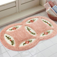 Fudiya PVC Mesh Coral Fleece Outdoor Mats Bathroom Home Area Rugs Water Bath Accent Rugs Anti Slip Anti-Bacteria Rugs HH1659(China)