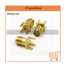 HENRYLIAN SMA-KE KHD SMA female Radio head Copper plating Vertical welding plate Cathode Outside screw holes Coaxial connector(China)